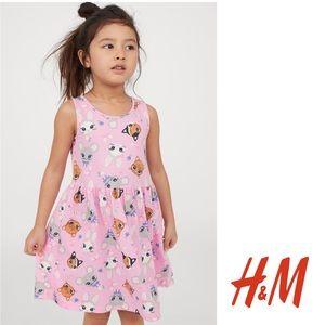 NWT H&M Pink Animals Summer Dress 18-24mo